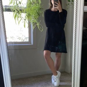 Ribbed knit sweater dress